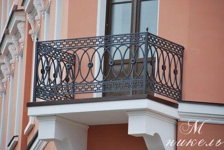 Кованные балконные ограждения компании M-NIKEL в Махачкале