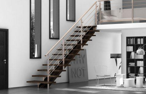 Стильные лестницы из нержавеющей стали