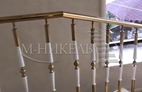 Лестничные ограждения из нержавейки для коттеджа
