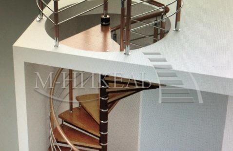 Визуализация винтовой лестницы для нашего клиента.